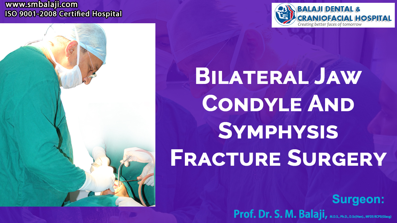 Bilateral Jaw Condyle and symphysis Fracture Surgery