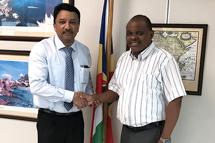 Dr SM Balaji meets with His Excellency Didier Dogley, Hon'ble Tourism Minister of Seychelles regarding the ICMFS Congress