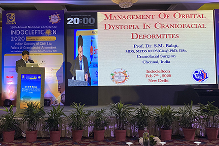 Dr SM Balaji discussing the finer aspects of the management of craniofacial deformities for successful surgical outcome